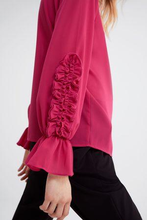 Zara Mujer Blusas - Blusa volantes