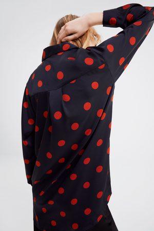 Zara Mujer Camisas - Camisa lunares
