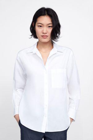 Zara Mujer Camisas - Camisa básica bolsillo
