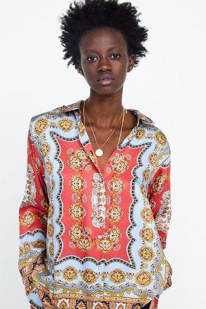 Zara Mujer Blusas - Blusa estampada