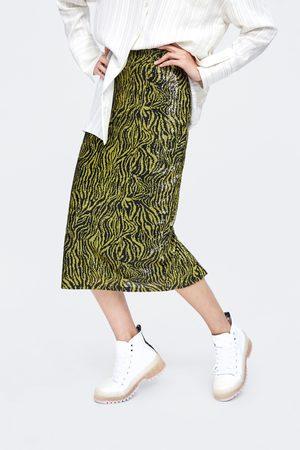 Zara Mujer De tubo - Falda tubo lentejuelas