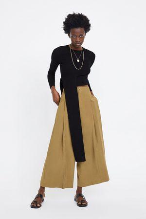 Zara Mujer Capri o pesqueros - Pantalón cropped ancho