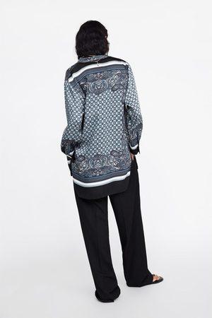 Zara Mujer Blusones - Túnica estampada