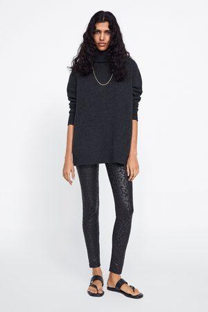 Zara Mujer Leggings y treggings - Legging estampado animal