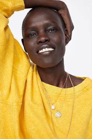 Zara Mujer Sudaderas - Sudadera oversize efecto lavado