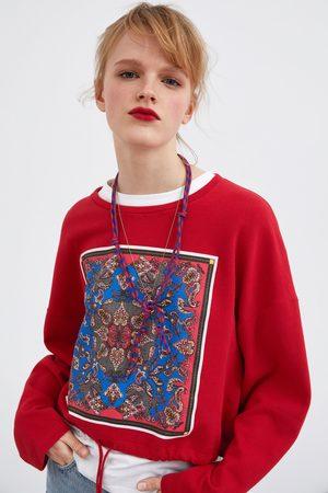 Zara Mujer Sudaderas - Sudadera estampado frontal
