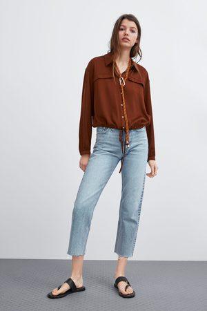 Zara Camisa cropped
