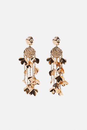 Zara Mujer Collares - Pendientes colgantes hojas