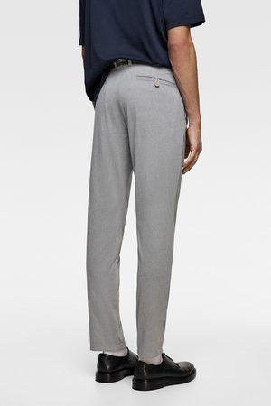 Zara Hombre Chinos - Pantalón chino estructura