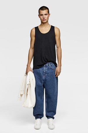 Zara Camiseta básica manga sisa