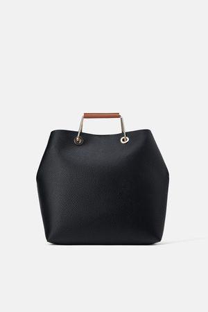 Zara Mujer Bolsas de mano - Bolso shopper asas metálicas