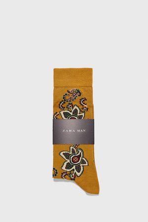 Zara Hombre Calcetines - Calcetín mercerizado paisley