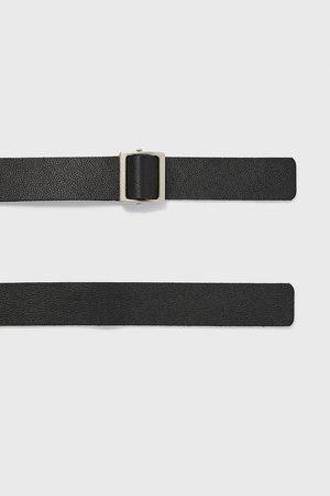 Zara Hombre Cinturones - Cinturón piel pasador