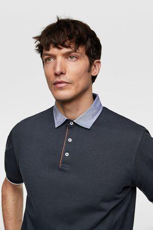 Zara Hombre Polos - Polo cuello combinado