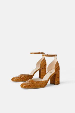 Zara Mujer Tacones - Zapato piel tacón estampado animal