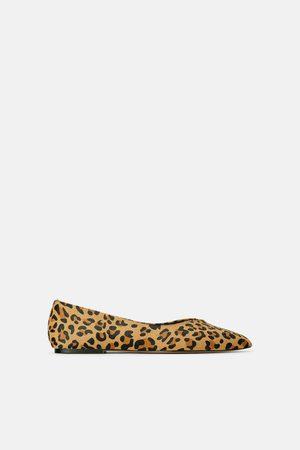 Zara Mujer Flats - Bailarina piel estampado animal