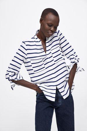 Zara Camisa lino rayas