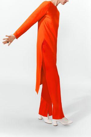 Zara Mujer Camisas - Cuerpo largo asimétrico