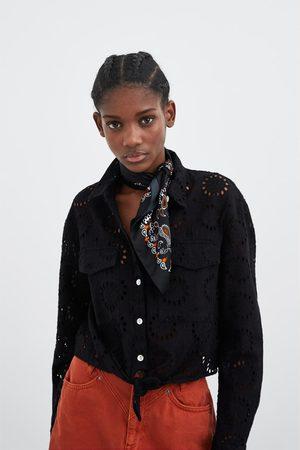 Zara Camisa bordado perforado