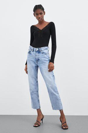 Zara Camiseta encaje