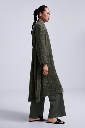 Zara Abrigo tejido fantasía