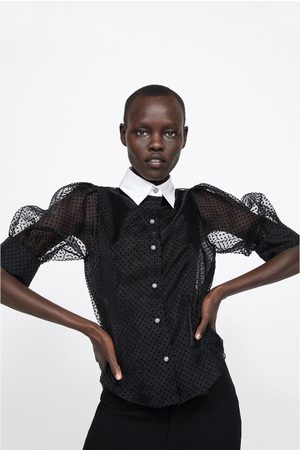 Zara Blusa lunares combinada