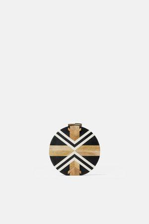 Zara Bolso bandolera madera