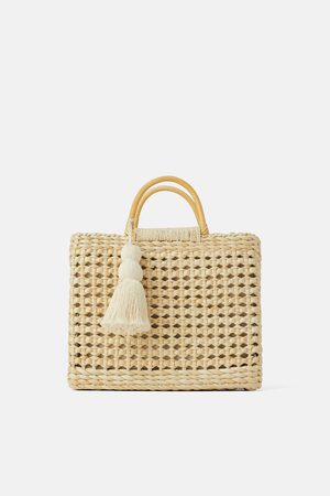 Zara Bolso shopper natural asas madera