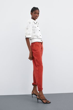 Zara Camisa perforada bordada