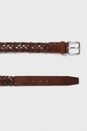 Zara Cinturón piel trenzada