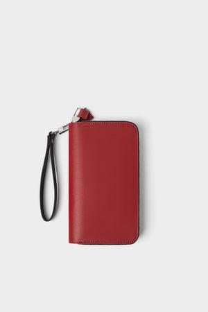 Zara Billetera xl roja doble cremallera