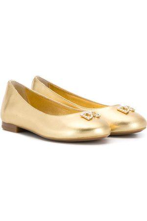 Dolce & Gabbana Niña Flats - Bailarinas con logo con detalles
