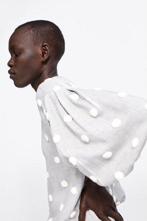Zara Blusa lunares combinados