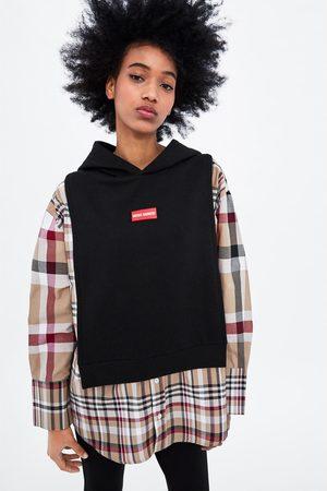 Zara Sudadera combinada camisa