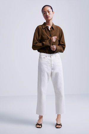 Zara Jeans zw premium straigth cropped