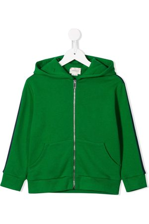 Gucci Side panelled zipped hoodie