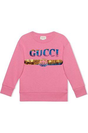 Gucci Sudadera con logo Gucci y lentejuelas