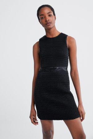 diseño profesional mejor selección de 2019 Precio al por mayor 2019 Vestido combinado estructura efecto piel