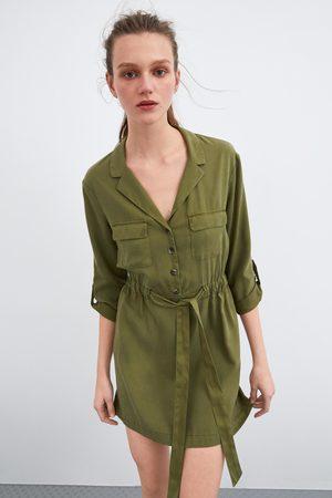 Zara Vestido cinturón