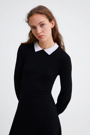 Zara Vestido cuello contraste