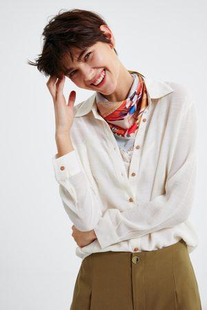 Zara Camisa botones combinados