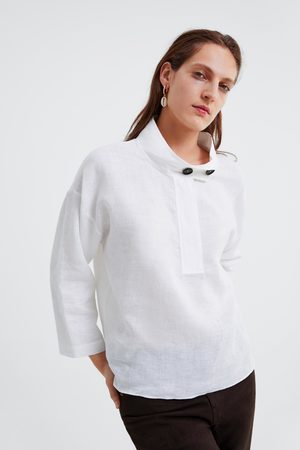 Zara Cuerpo lino oversize botones