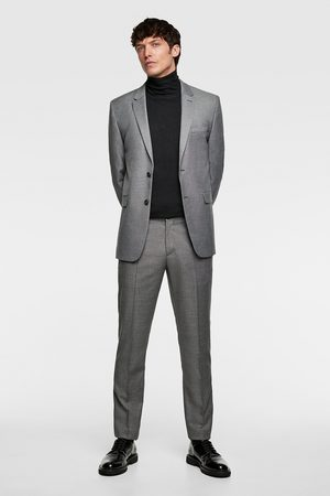 Zara Pantalón traje cinzato comfort