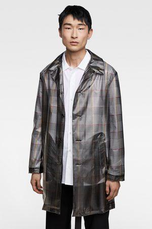 abrigo cuadros cinta zara