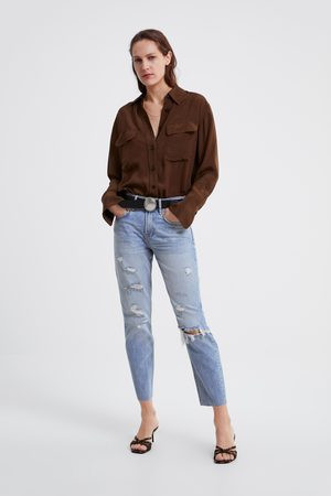 Zara Jeans zw premium cigarette sunrise blue