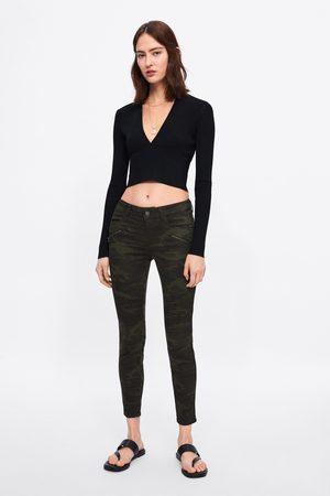 Zara Jeans z1975 skinny camuflaje