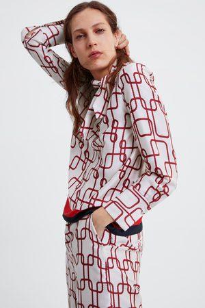 Zara Mujer Blusas - Blusa estampada lazo