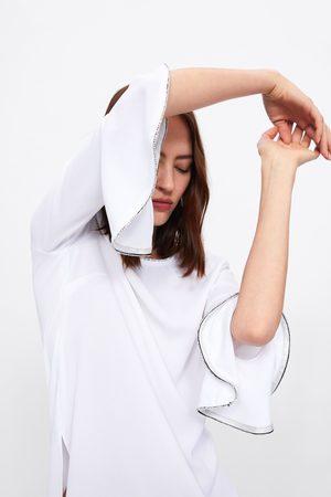 Zara Cuerpo brillos manga volante