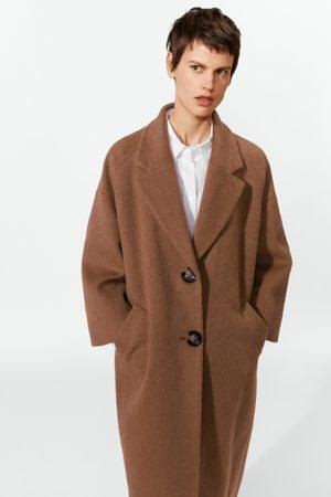 Zara Mujer Abrigos - Abrigo largo efecto pelo