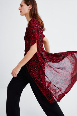 Zara Camisa estampado animal
